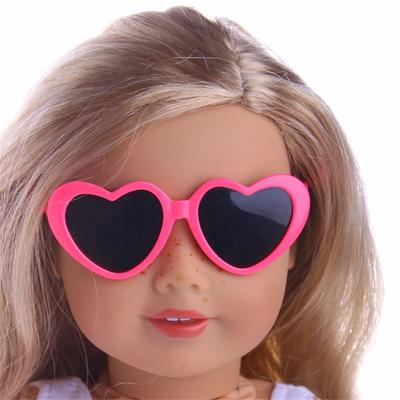 MagiDeal Yellow Frame Heart Shape Sunglasses for AG American Doll 18inch Dolls