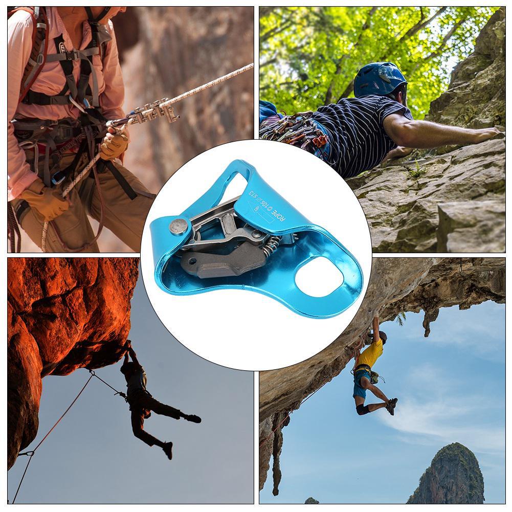 Climbing Rock Descender Self-braking Stop Rope Clamp Grab Rescue Climb Equipment