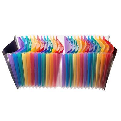 Filing Products New 1pc Small Size 104*78*35mm Plastic Candy Color Document Bag File Folder Expanding Wallet Bill Folder