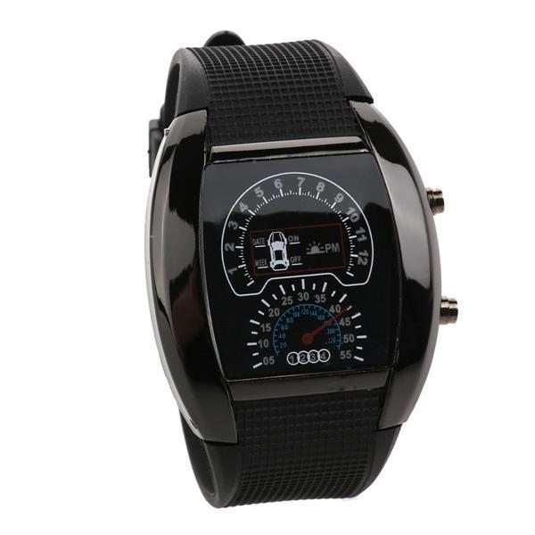 Cochazo tablero diseño impermeable LED luz azul Unisex deportes reloj de  pulsera con la fecha semana - comprar a precios bajos en la tienda en línea  Joom e8d5de1f882b