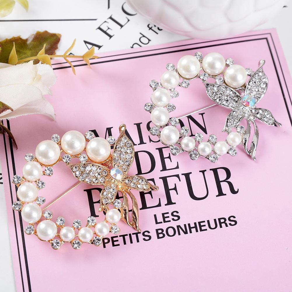Dorable Broche De Perlas Para El Vestido De Novia Ideas Ornamento ...