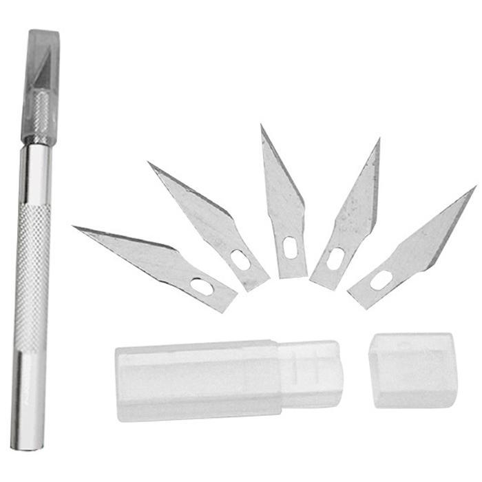 Cutter Scalpel Precision Various Replacement Blades Aluminum Handle 14cm