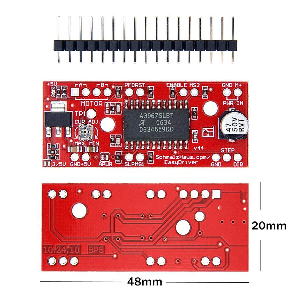 5PCS NEW EasyDriver Shield stepping Stepper Motor Driver V44 A3967 For Arduino