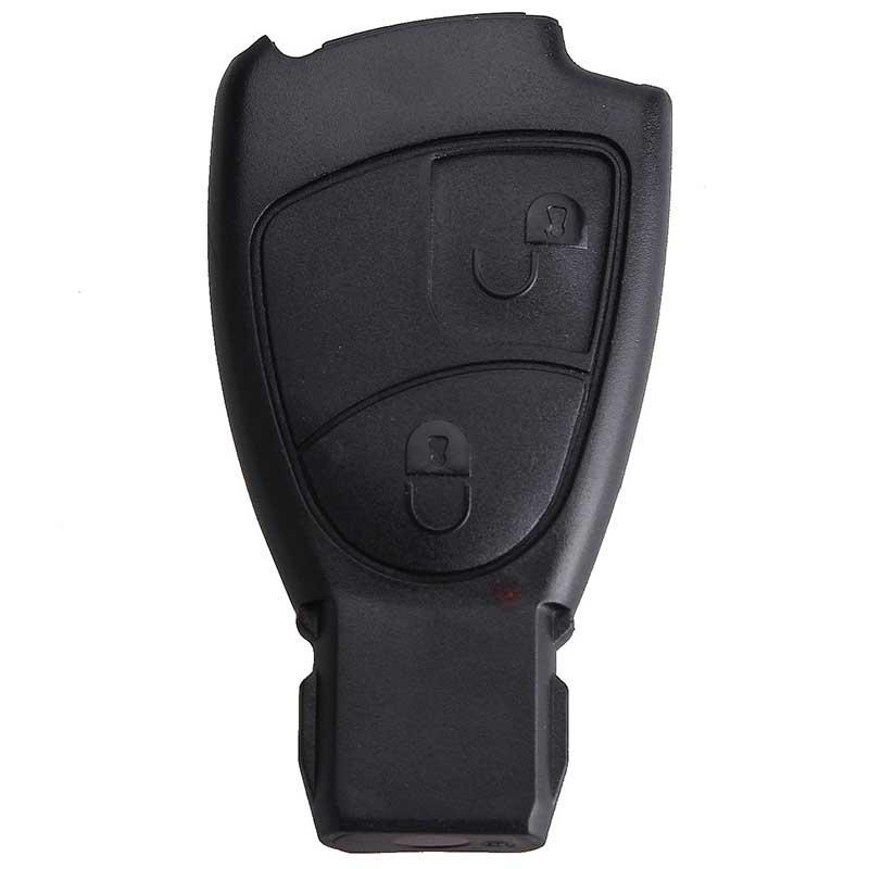 2 BTN Remote Key Fob Case Shell for Mercedes Benz C E B S Class ML CLK