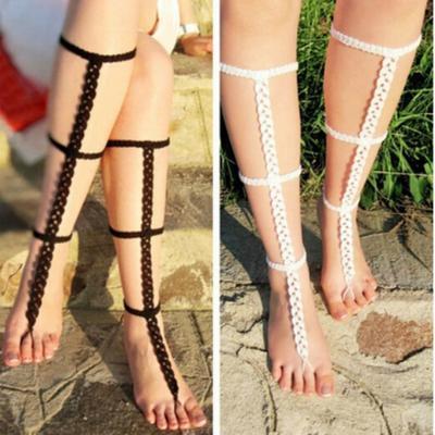 Stilvolle Barfuß Sandale Häkeln Stricken Fuß Schmuck Fußkette