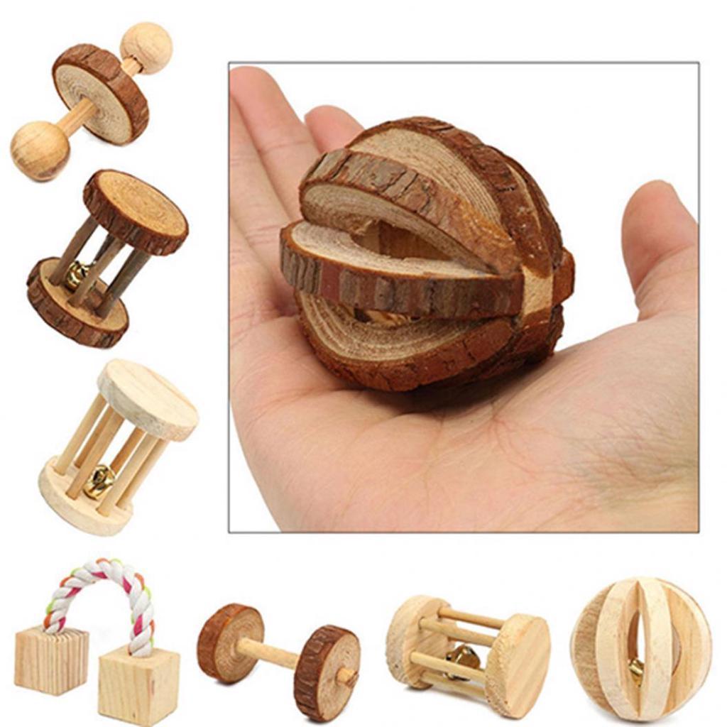Игрушки для грызунов из натурального дерева в ассортименте – купить по низким ценам в интернет-магазине Joom