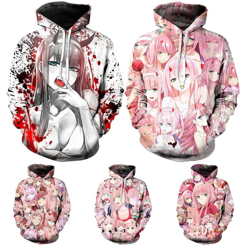 Anime Darling In The Franxx Zero Two Coat Unisex Hoodie Jacket Sweatshirt Buy At A Low Prices On Joom E Commerce Platform