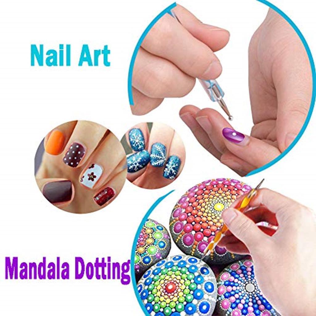 Mandala Dotting Art Dot Painting Tool Pen Stencil Template Brush Acrylic Rod