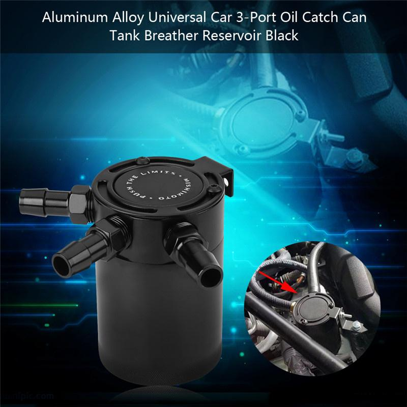 Oil catch can 1 set 3-port oil catch can breather reservoir aluminum alloy  car