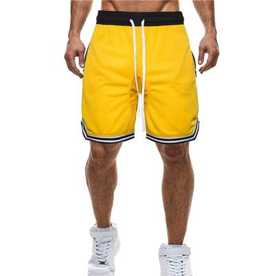 Mens Sports Shorts,Keepfit Fashion Casual Solid Color Elastic Drawstring Pants with Pocket
