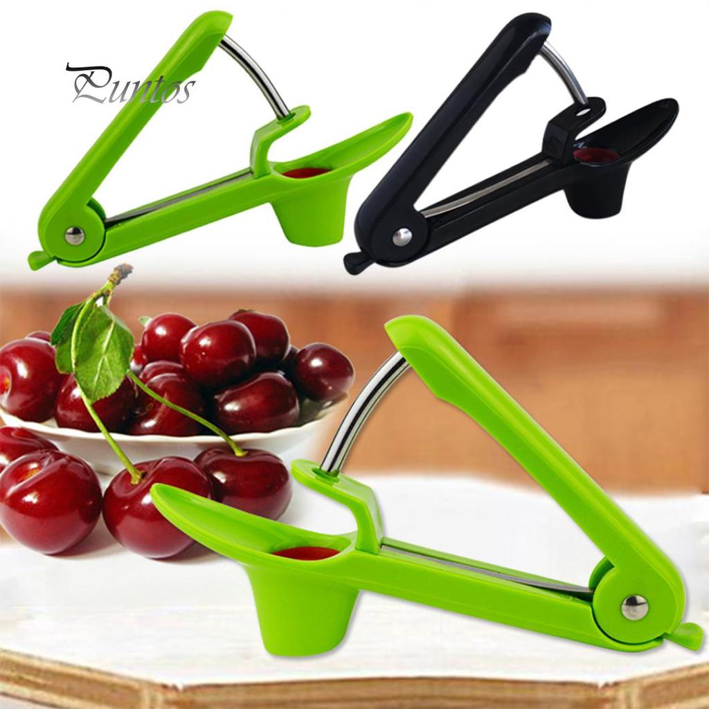 Handheld Stainless Steel ABS Cherry Pitters Olives Go Nuclear Device Easy Squeeze Grip Fruit Vegetable Kitchen Tools