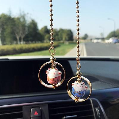 Car Rear View Mirror Hanging Decoration Lucky Car Pendant Auto Accessory T