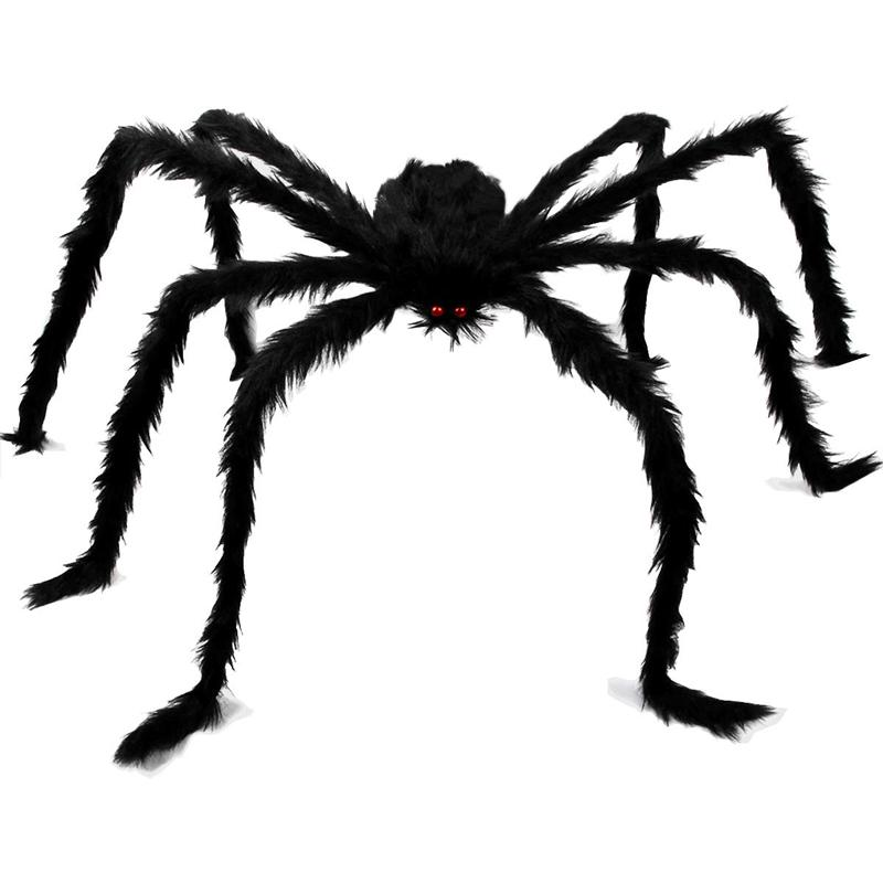 Fake Large Big Hairy Spider Plush Toys for Halloween Party Decoration Props