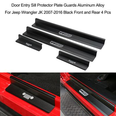 Carbon Fiber Door Sill Scuff Plate Pedal Protector Outside Fits for JL//JLU 18-19 Car Door Sill Plate Protectors
