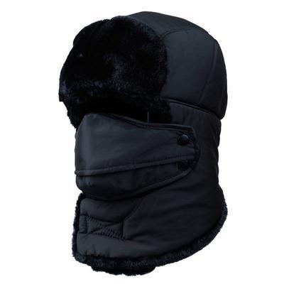 Winter Warm Bomber Hats Caps Scarf Men Women Russian Trapper Hat Aviator  Snow Ski Hat Cap with Hat