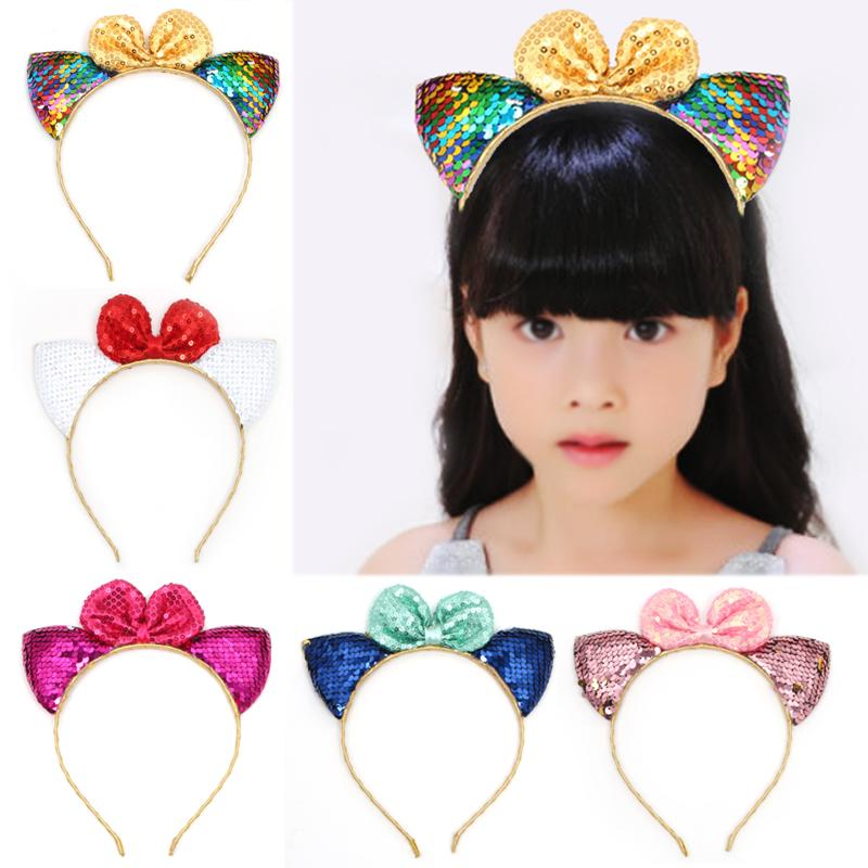 Child Kids Cute Sequins Head Christmas Party Props Headband Hair Accessories