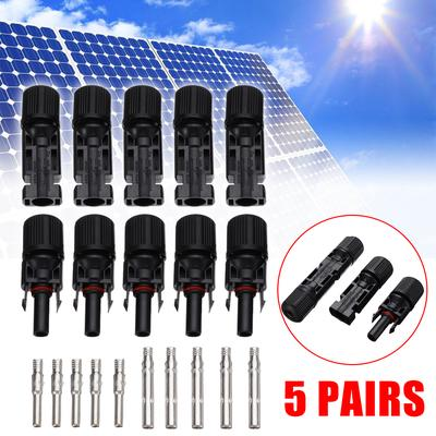CLTYQ Male Female MC4 Solar Panel Cable Connector Waterproof Seal Ring Connectors 5 Pcs
