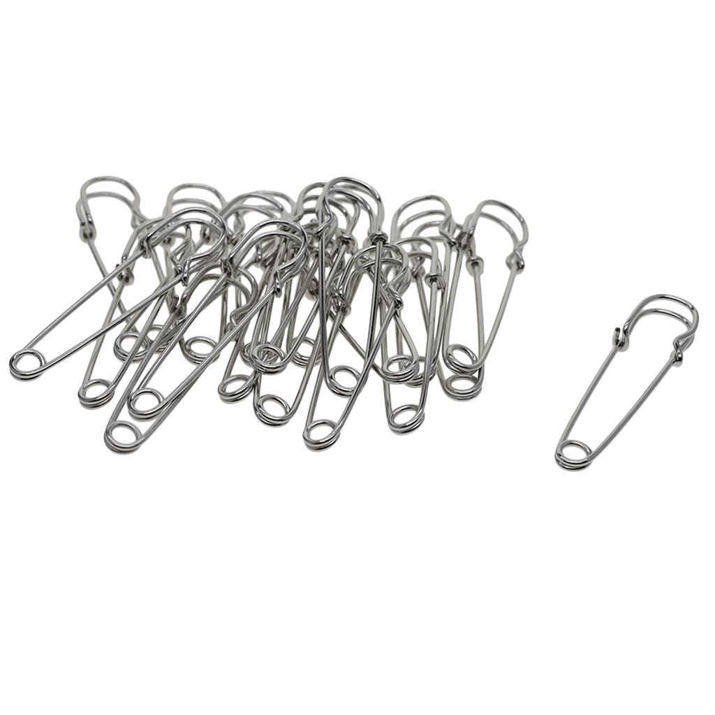 Home Metal Handcraft Clothes Sewing Brooch Fastening Safety Pin Dark Gray
