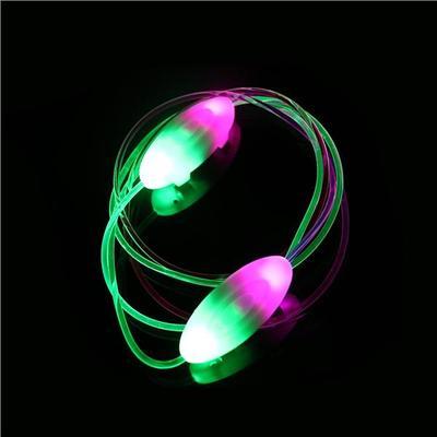 1 x paire de LED clignotant lacets lueur dans la couleur sombre rose