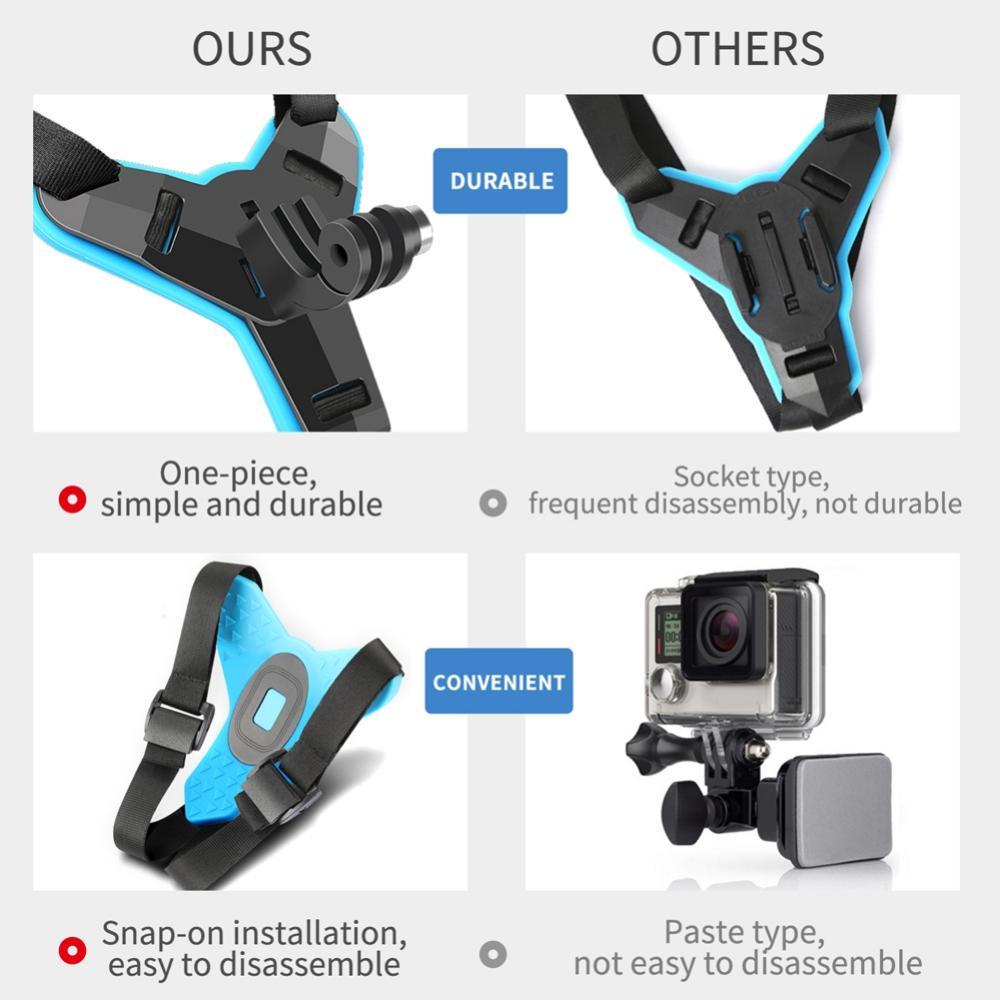 Motorcycle Helmet Front Chin Mount Holder Bracket For GoPro 8 7 6 5 4 Xiaomi Yi