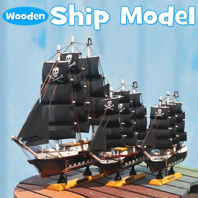 3 размеры деревянный корабль модель комплект парусная лодка игрушка модель подарки для украшения детские дома – купить по низким ценам в интернет-магазине Joom