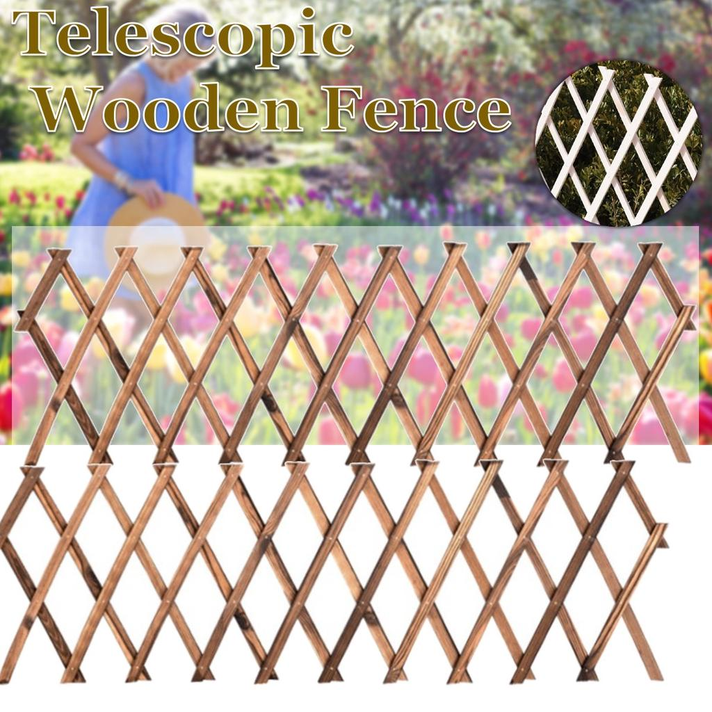 Expandable Bamboo Fence Plant Support Outdoor Plant Climbing Lattices Trellis Fence for Courtyard Garden Vining Plants