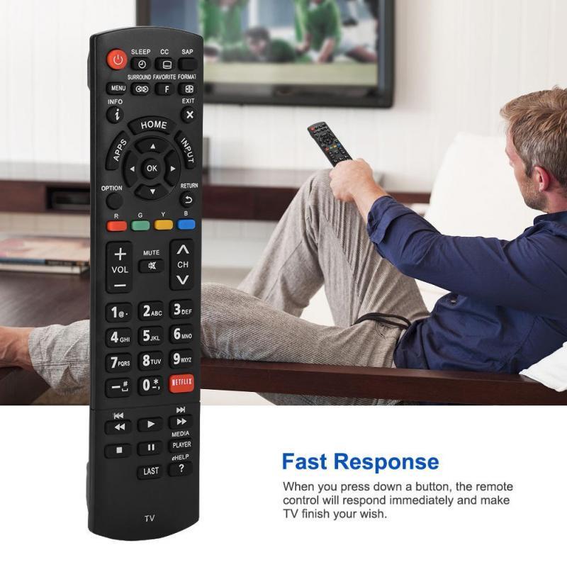 Rápida respuesta TV con Control remoto > 8m señal transmisión mando para  Panasonic