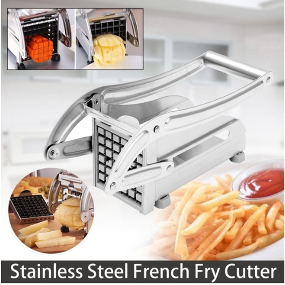 Stainless Steel French Fry Cutter Potato Vegetable Slicer Chopper 2 Cutter Safe