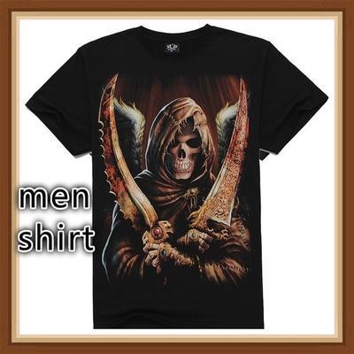 1f987a44de95 Men s O-neck Creative Animal Clothes Short Sleeve Digital Skull 3D Printed T -Shirt