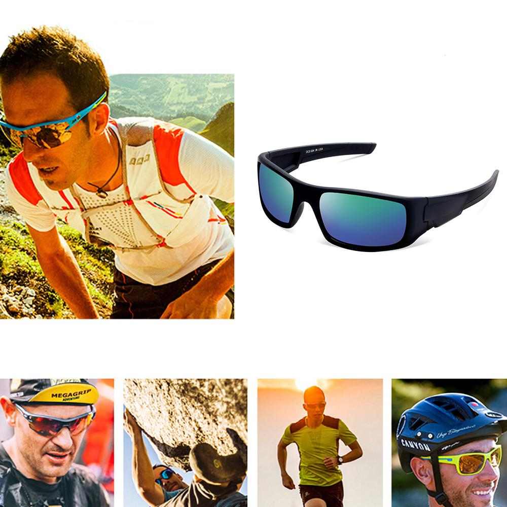 JSPOYOU Sunglasses Cycling Driving Riding Safety Glasses Outdoor Sports Eyewear HJ