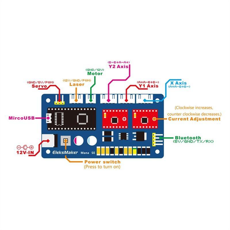 Electronic modules eleksmana SE 2 engraving machine motherboard DIY print  laser engraver