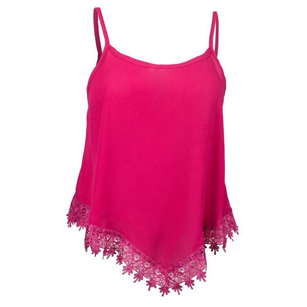 Las mujeres sin mangas chaleco Irregular blusa blusas camisola de ...