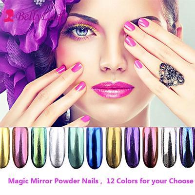 Nail Powder Magic Mirror Plating Mirror Surface Titanium Gold Powder Delicate and Shiny