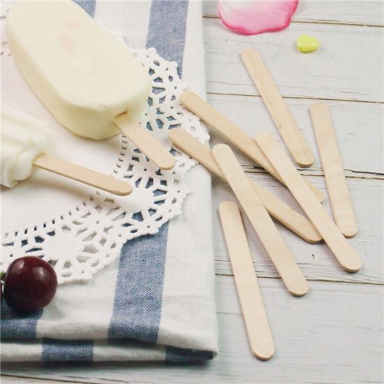 Varadyle 50Pcs Acrylic Ice Cream Sticks Popsicle Stick Kids DIY Ice Cream Sticks Crafts Popsicle Stick Mould Gold