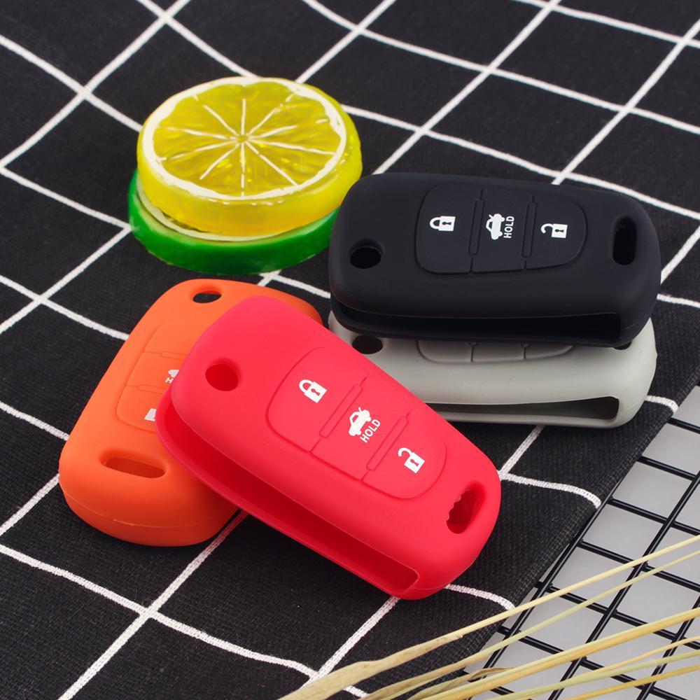 Силиконовые 3 кнопка флип удаленный ключ случае покрытия подходят для Kia K2 K5 Pro Ceed HYUNDAI i20 i30 i40 Санта фото
