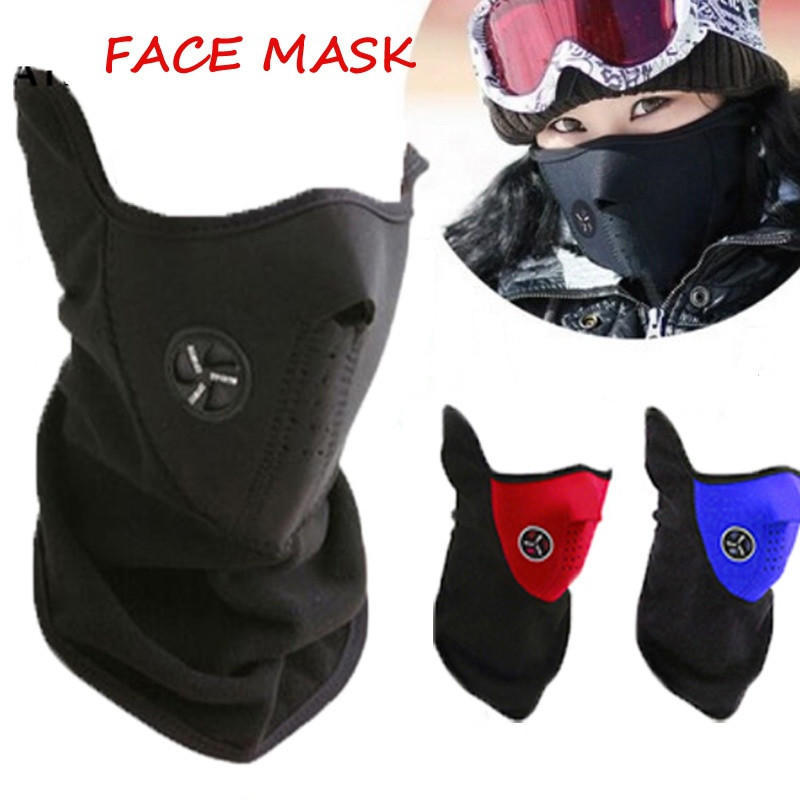 Motorcycle Half Face Mask Cover Fleece Unisex Ski Snow Moto Cycling Warm Winter Neck Guard Scarf Warm Protecting Mask 1 pcs