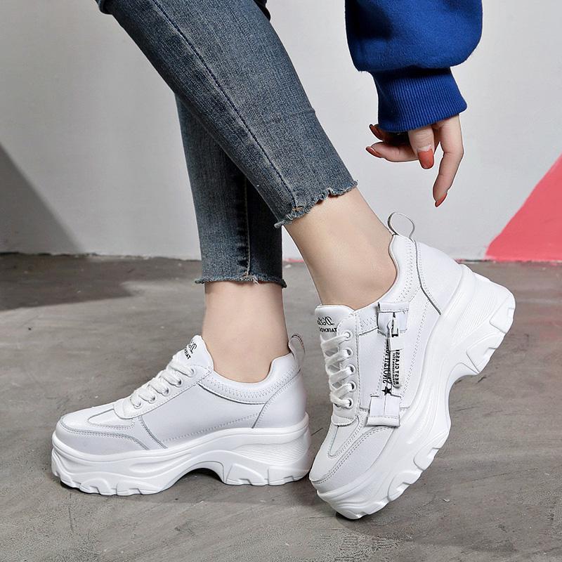 Fashion femmes Casual chaussures femme espadrilles plateforme talons chaussures  de Sport de Flats acheter à prix bas — livraison gratuite, avis réels avec  des photos — Joom