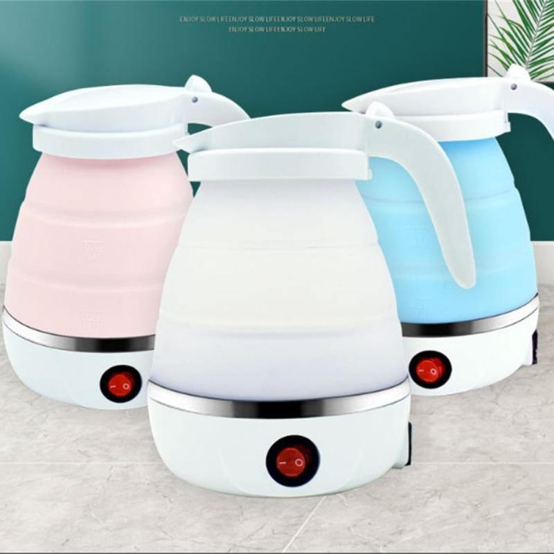 Details about  /Collapsible Silicone Electric Kettle Portable Camping Foldable Mini Water Boiler
