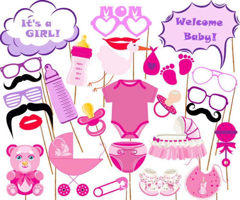 Rainlemon (TM) chica rosa bebé foto stand accesorios Kit de ducha en ...
