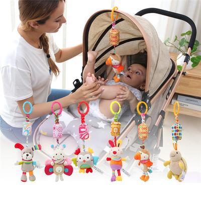 Toddler Infant Stroller Car Seat Plush Baby Buggy Pram Bed Hanging Rattle Toy