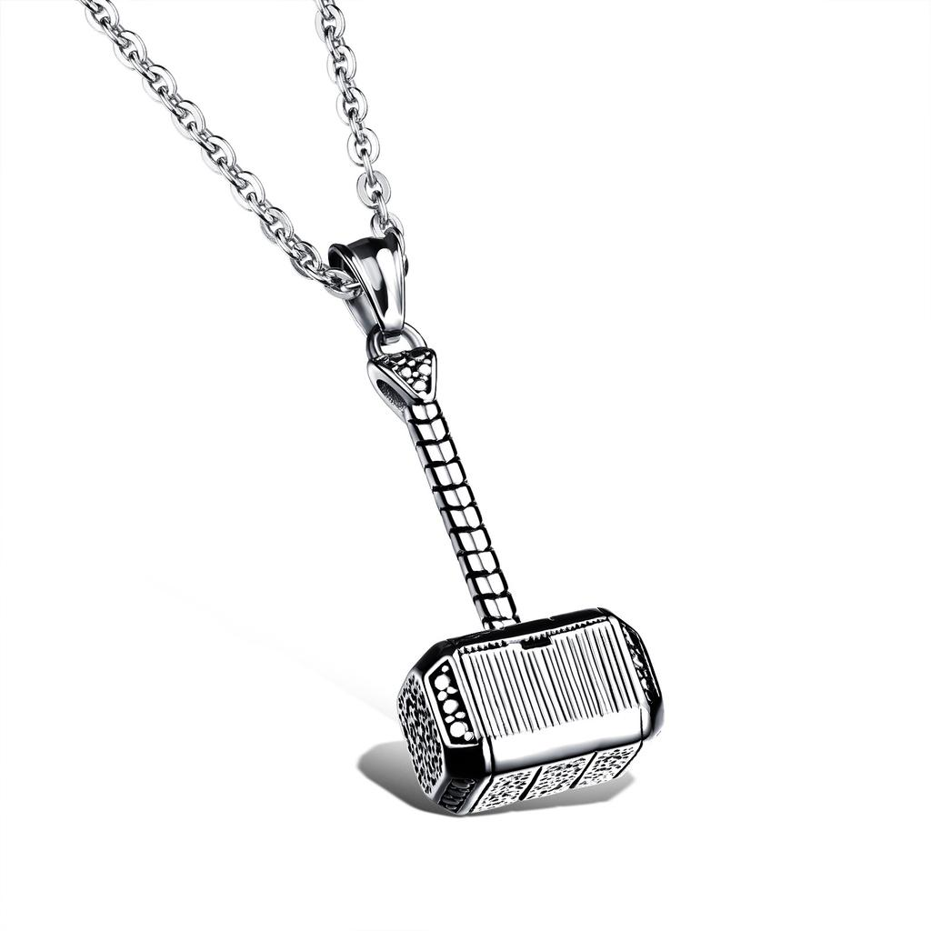 Fashion Lucky Necklaces Charm New Thor/'s Hammer Ancient Carved Pendant Jewelry