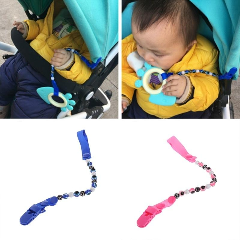 1pcs Kids Baby Dummy Pacifier Soother Nipple Leash Strap Chain Clip Holder Gifts