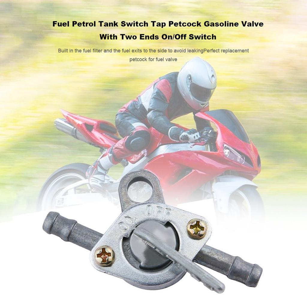 Motorbikes Gas Inline Fuel Filter Petrol Pipe Hose On Off Valve Switch