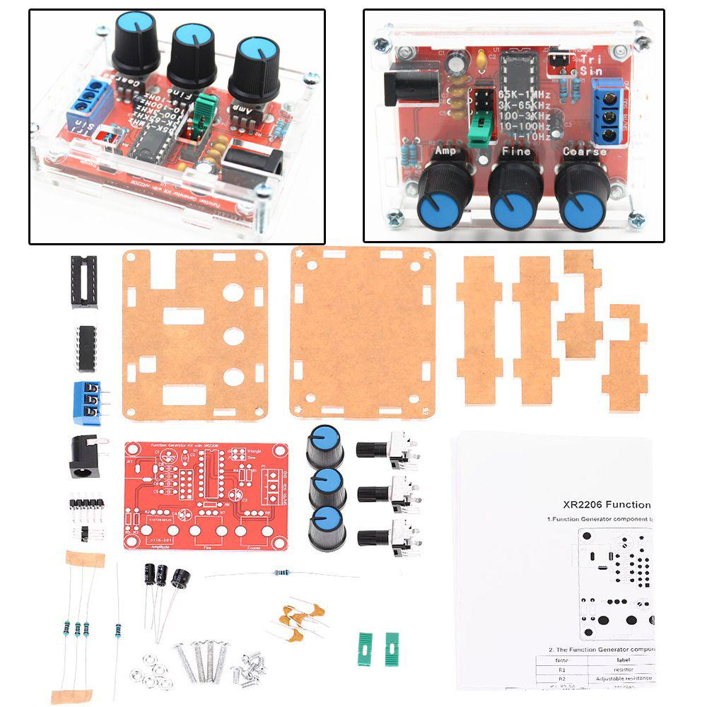 Xr2206 1hz 1mhz In Bulk Diy Kit Sine Triangle Square Output Audio Function Generator Circuit And Full Description 1 Of 10