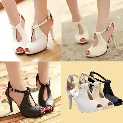 100% de garantía de satisfacción en venta en línea gran venta Zapato de las mujeres Stiletto plataforma tacón alto pescado boca zapatos  bombas