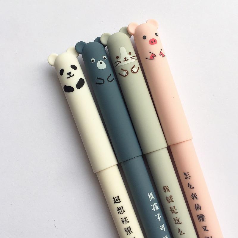 1 pcs Panda Neutral Pen Stationery Black Ink Gel Pens School Office Supplies