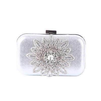 ecf8dc0f6 Cena de la mujer bolsos bolsos de novia bolsos cartera caso girasol de  cristal de diamante