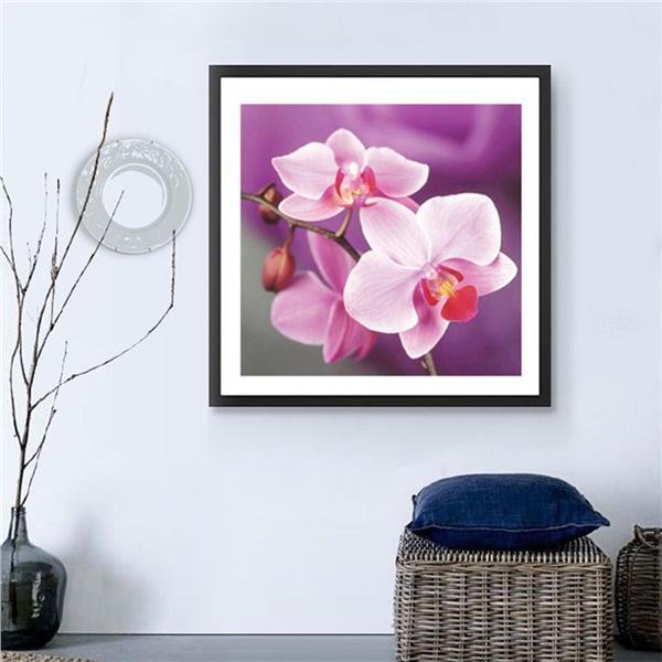 DIY-5D voller Diamanten beschichtet Motte Orchidee Blume Stickerei ...