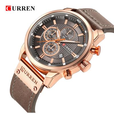 40c792135 CURREN Luxury Men Military Sport Watches Men s Quartz Clock Leather Strap Waterproof  Date Wristwatch