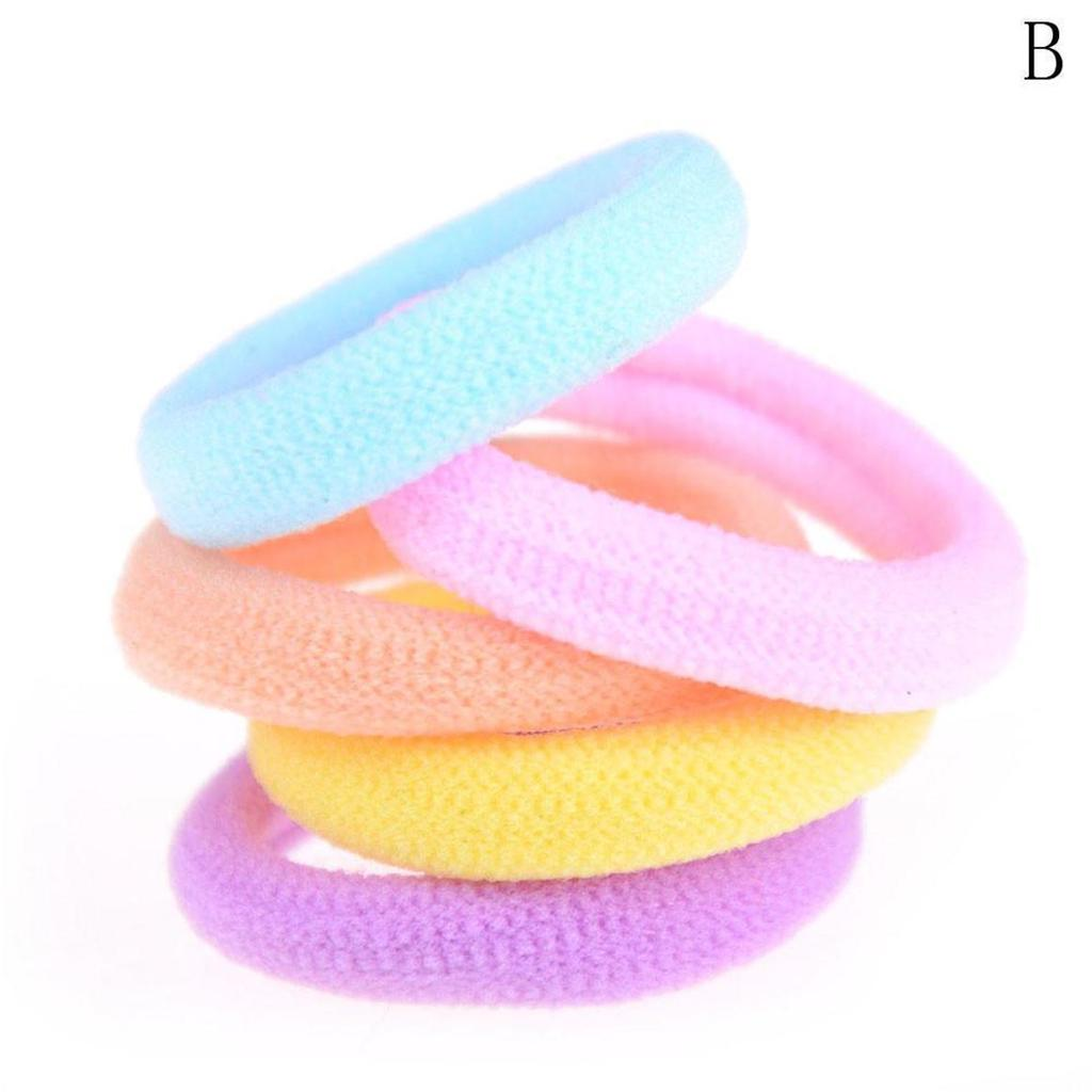 10PCS Baby Kids Girls Comfy Seamless Elastic Hair Rope Ring Hairband Ponytail Holder Hair Accessory